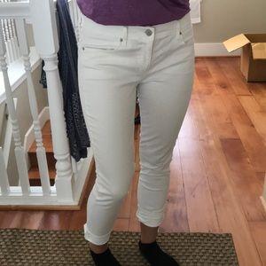GAP 1969 white legging jeans